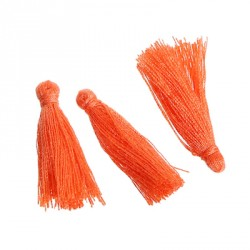 Pompons Glands Décoration orange 30 mm, 5 Pcs