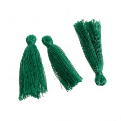 Pompons Glands Décoration vert 30 mm, 5 Pcs