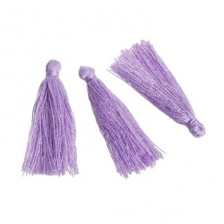 Pompons Glands Décoration violet 30 mm, 5 Pcs