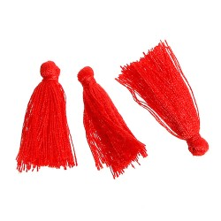 Pompons Glands Décoration rouge 30 mm, 5 Pcs