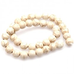 50 Perles howlite naturel en pierre 8 mm