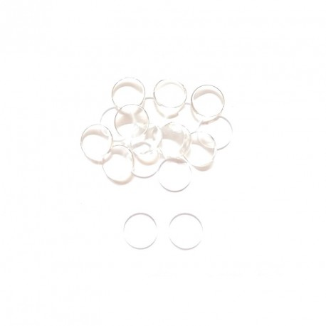 15 Cabochons loupes rond transparent 12 mm