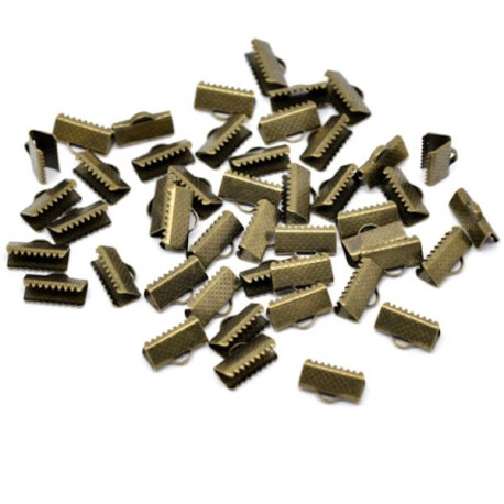 100 Fermoirs-embouts à griffe bronze 13 x 8 mm