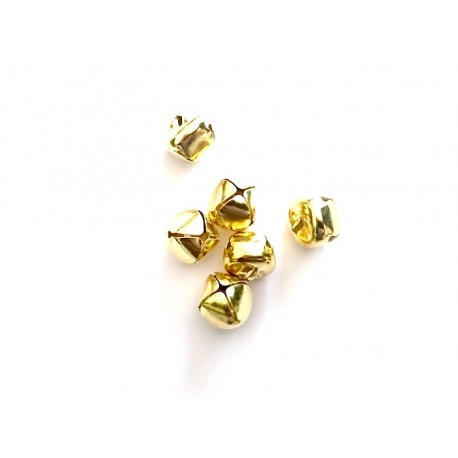 10 Pendentifs Forme Cloches Or Clair, 15.0mm x 15.0mm
