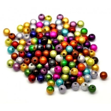 50 Perles Magiques Miracle Multicolores 8 mm