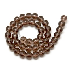50 Perles en verre marron 6mm