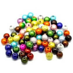 20 Perles Magiques Miracle Multicolore 10 mm