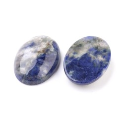 2 Cabochons Sodalite naturelle ovale 18x13mm