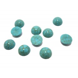 10 cabochons turquoise pierre 10 mm