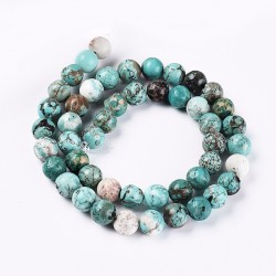 45 Perles Turquoise naturelle Rond 8mm