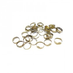 10 Bagues supports plateau 8 mm pour collage Fimo bronze