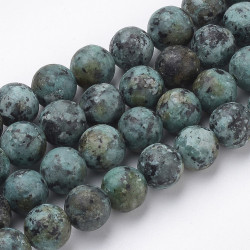 45 Perles Turquoise africaine naturelle Rond 8mm